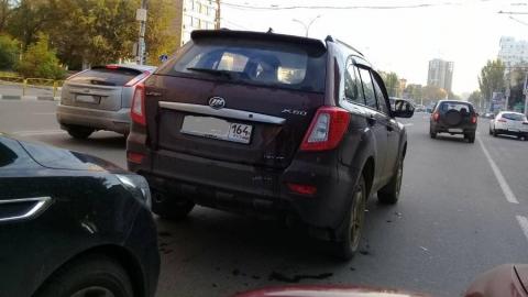 Авария на перекрестке Чернышевского и Дегтярной спровоцировала крупную пробку