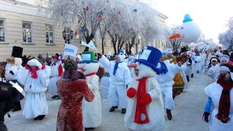 Нашествие снеговиков наСаратов. Будут перекрыты улицы