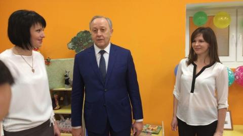 Радаев осмотрел строящийся детский сад в Солнечном-2
