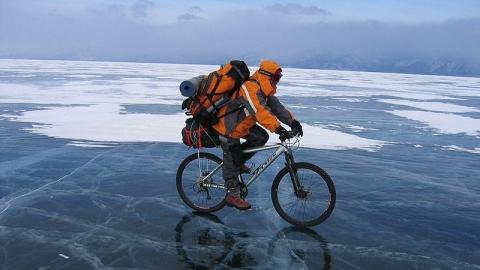 Саратовцы устроят велопробег на 450 километров по льду Волги