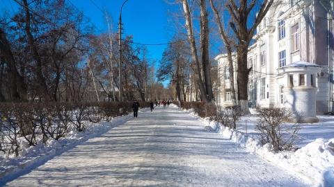 В Саратове ясно и морозно