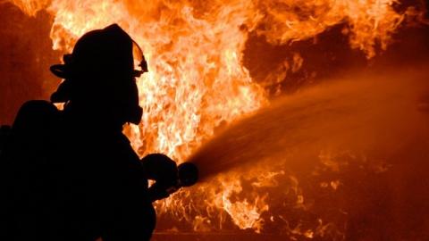 Ночью 10 пожарных тушили торговый павильон на Московском шоссе