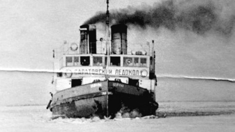 Затонувший ледокол поднимут со дна Волги в 2021 году