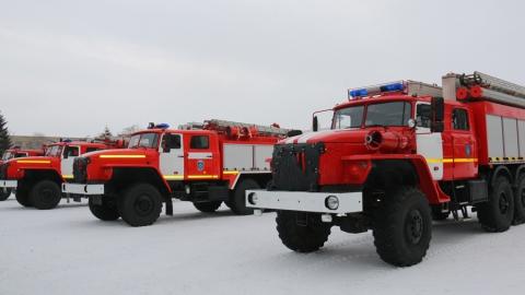 Ершовскому району подарили четыре пожарных машины