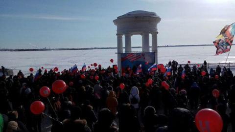 """В Саратове сотни сторонников Навального участвовали в """"забастовке избирателей"""""""