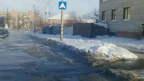 Из-за коммунальной аварии на Перспективной жители Ленинского района остались без воды