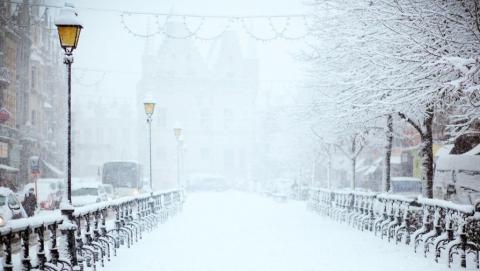 В Саратове обещают снегопад и до восьми градусов мороза