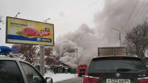 На улице Радищева горят частные дома