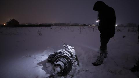 """На месте крушения Ан-148 в Подмосковье обнаружены оба """"черных ящика"""""""