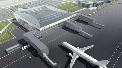 Три телескопических пассажирских трапа приобретут для нового саратовского аэропорта