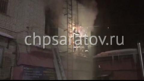 В Саратове горел Дом быта Фрунзенского района
