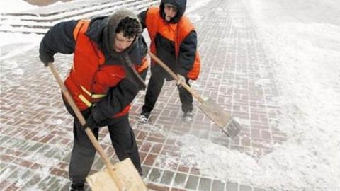 В Саратове на очистку улиц от снега вышли работать 1600 дворников