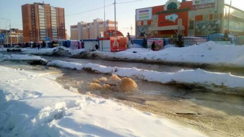 Коммунальная авария парализовала движение по улице Тархова