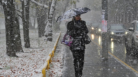В Саратове ожидается снег, метель, туман