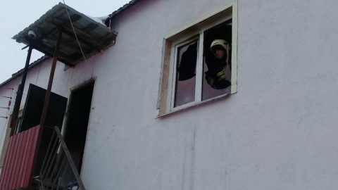 Во время возгорания в кафе на Бардина пострадала семья из трех человек