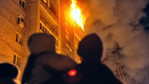 Вчера в горящей квартире погибла женщина