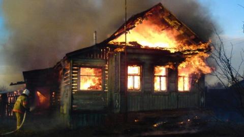 Вечером в Новоузенске горел частный дом