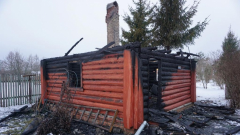 В селе Шило-Голицино сгорела баня