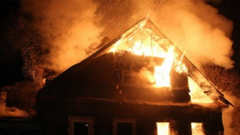 В Красном Партизане сгорел частный дом