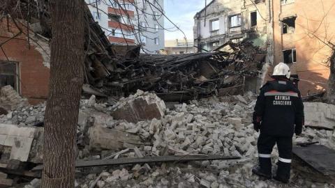 На Киевской рухнул четырехэтажный дом