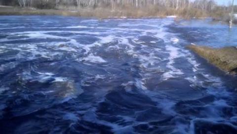 В Балашовском районе затопило плотину через Елань