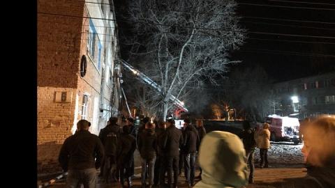 Пожар в Летном городке. Люди спускались по простыням и выпрыгивали из окон