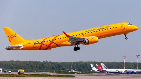 """""""Саратовские авиалинии"""" получили сертификат на обслуживание всех модификаций Embraer-195"""