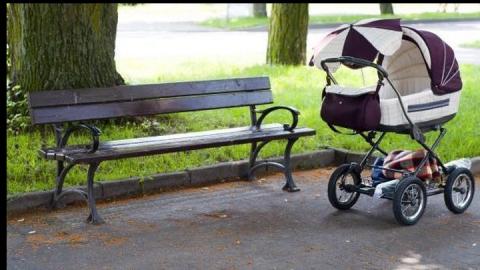 Пенсионер украл из парка детскую коляску и сжег ее
