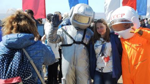 День космонавтики собрал на Гагаринском поле 12 тысяч человек