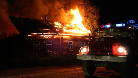 В Аткарском районе в пожаре погибла женщина