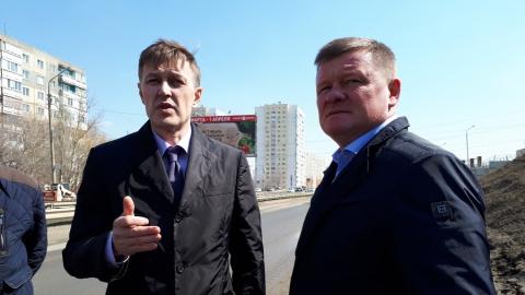 Михаил Исаев ознакомился с ходом работ по реконструкции водопровода на Тархова