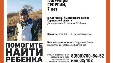 Волонтеры и полиция ведут поиски пропавшего семилетнего Георгия Гаврилова