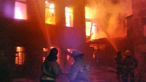 В Заводском районе сгорел четырехэтажный дом