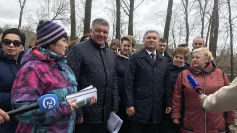 Спикер Госдумы заявил о необходимости сделать в парке Вольска систему водоотведения
