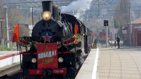 На станции Сенной встретили Поезд Победы