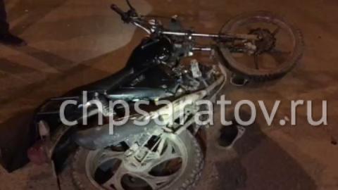 """В Саратове проехавший на красный свет мотоциклист пострадал при столкновении с """"Волгой"""""""