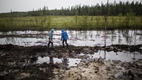 Земля в Балаковском районе загрязнена нефтепродуктами