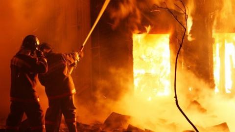 На пожаре под Саратовом погибли женщина c грудным ребенком
