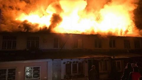 В Заводском районе горели два двухэтажных дома