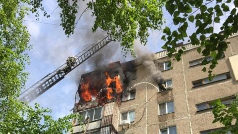 Из горящего дома на Новоузенской эвакуировали 40 человек