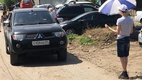 Саратовские подростки продают парковочные места в перекрытом из-за Дня Победы центре города