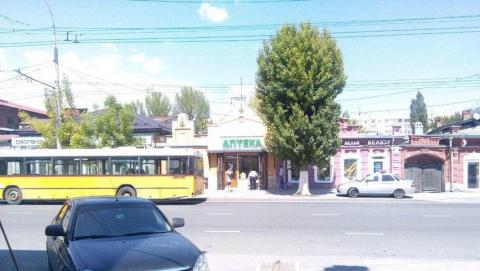 Напротив Главпочтамта водитель автобуса № 11 сбил велосипедиста