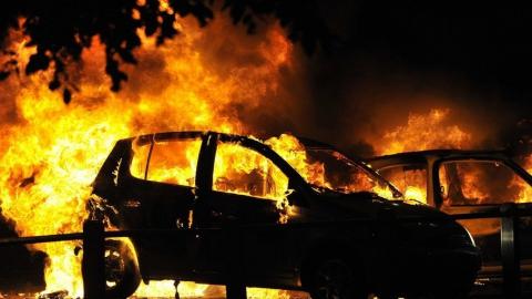 На Белоглинской ночью сгорели три машины
