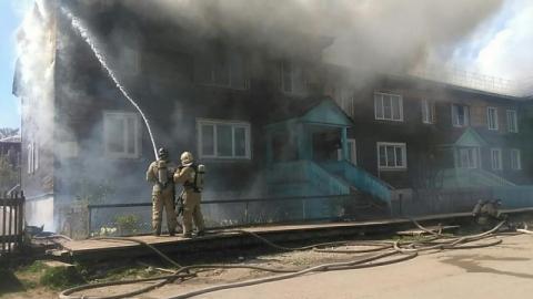 В Заводском районе опять горел нежилой дом