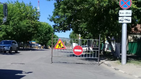 Улица Соколовая перекрыта в районе Сенного рынка