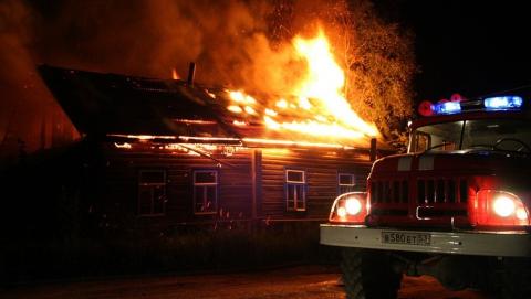 Минувшей ночью в Турках сгорел частный дом