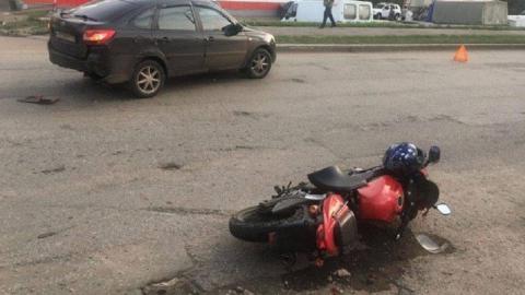 Водитель ВАЗа сбил мотоциклиста  и скрылся с места ДТП