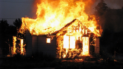 Пожар в частном доме унес жизни семейной пары из Дубового Гая