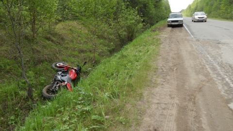 На Тархова на мотоцикле разбились отец и несовершеннолетний сын