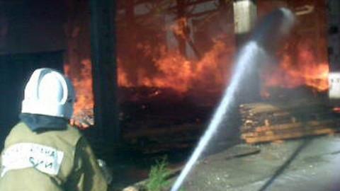 В Балакове горел административный комплекс